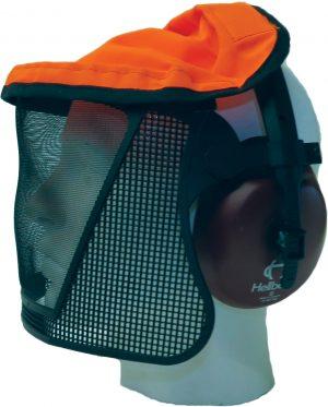 Hellberg Nylon Mesh Visor Attached to Earmuff Hearing Protection